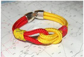 Pulsera Náutica bandera de España colores rojo y amarillo