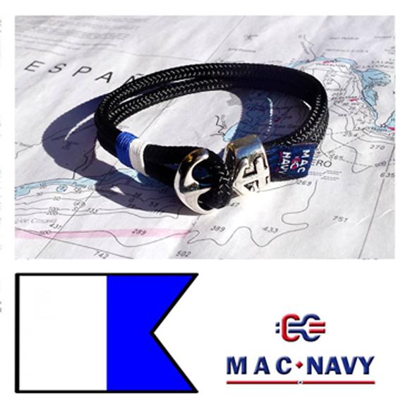 06b35a5280bb Pulseras náuticas con ancla y driza. Pulseras estilo marinero y ...