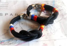 Pulseras náuticas bandera España y Rusia