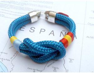 Pulseras náuticas bandera España y Ucrania