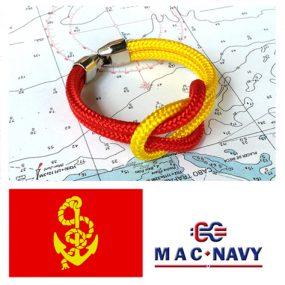 Pulseras bandera española de driza roja y amarilla