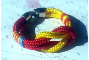 Pulsera de driza náutica con bandera España