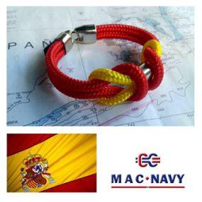 Pulseras driza náutica con bandera española