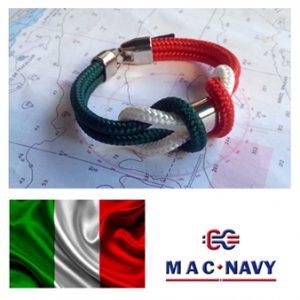 Pulseras marinaras con bandera italiana