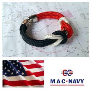 Pulsera marinera con bandera Estados Unidos