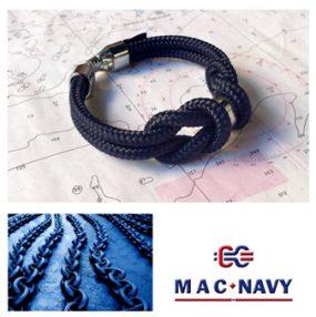 Pulseras náuticas de driza color blue