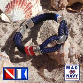 Pulseras náuticas de buceo azul
